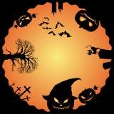 Fondo de las linternas de Halloween y de Jack O Fotos de archivo libres de regalías