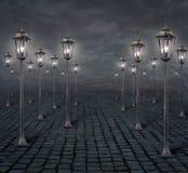 Fondo 2 de las luces de calle ilustración del vector