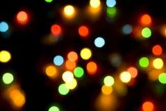 Fondo de las luces de la Navidad Fotografía de archivo