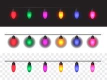 Fondo de las luces de la Navidad libre illustration