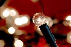 Fondo de las luces de la Navidad blanca Fotografía de archivo