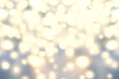 Fondo de las luces de la Navidad Extracto de oro B Defocused del día de fiesta Foto de archivo