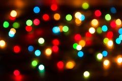 Fondo de las luces del bokeh de la Navidad Fotos de archivo libres de regalías