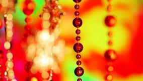 Fondo de las luces del centelleo de la decoración del Año Nuevo de la Navidad almacen de metraje de vídeo