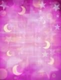 Fondo de las lunas y de las estrellas Fotos de archivo libres de regalías