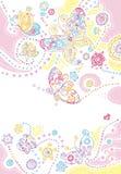Fondo de las mariposas ilustración del vector