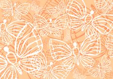 Fondo de las mariposas Imágenes de archivo libres de regalías