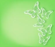 Fondo de las mariposas del corte del papel para la primavera libre illustration
