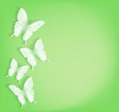 Fondo de las mariposas del corte del papel para la primavera ilustración del vector