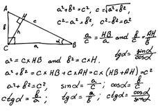 Fondo de las matemáticas Foto de archivo libre de regalías