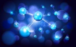 Fondo de las moléculas ilustración del vector
