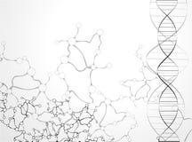 Fondo de las moléculas libre illustration