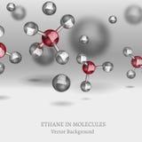 Fondo de las moléculas del etano Fotografía de archivo