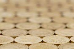 Fondo de las monedas de libra británica fotografía de archivo libre de regalías