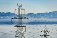 Fondo de las montañas de las torres de poder Foto de archivo