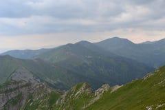 Fondo de las montañas, montañas de Tatra, Polonia Fotografía de archivo libre de regalías