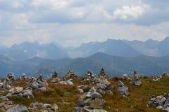 Fondo de las montañas, montañas de Tatra, Polonia Fotos de archivo libres de regalías