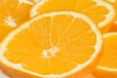 Fondo de las naranjas del corte Fotografía de archivo