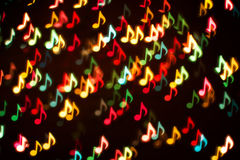 Fondo de las notas coloridas de la música Foto de archivo