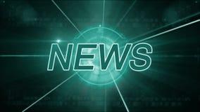 Fondo de las noticias genérico almacen de metraje de vídeo