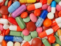 Fondo de las píldoras foto de archivo