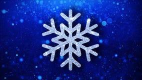 Fondo de las partículas del icono del centelleo del elemento del copo de nieve del ornamento de la Navidad libre illustration