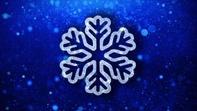 Fondo de las part?culas del icono del centelleo del elemento del copo de nieve del ornamento de la Navidad ilustración del vector
