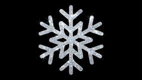 Fondo de las part?culas del icono del centelleo del elemento del copo de nieve del ornamento de la Navidad stock de ilustración