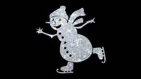 Fondo de las part?culas del icono del centelleo del elemento del mu?eco de nieve del ornamento de la Navidad libre illustration
