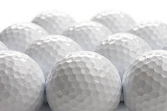 Fondo de las pelotas de golf Foto de archivo libre de regalías