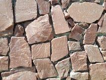 Fondo de las piedras de construcción de la cerca de la pared de piedra Foto de archivo