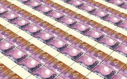 Fondo de las pilas de los billetes de dólar de Nueva Zelanda Fotografía de archivo libre de regalías