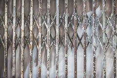Fondo de las puertas antiguas viejas del hierro Foto de archivo libre de regalías