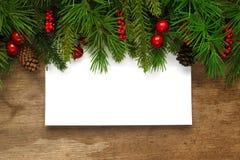 Fondo de las ramas de árbol de navidad Imagenes de archivo