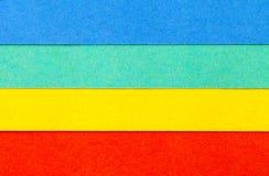 Fondo de las rayas horizontales del paralelo colorido del papel Fotografía de archivo libre de regalías