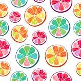 Fondo de las rebanadas de la naranja y del pomelo de la cal del limón ilustración del vector