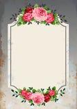 Fondo de las rosas de la vendimia libre illustration