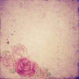 Fondo de las rosas del vintage Imagen de archivo