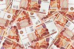 Fondo de las rublos rusas Imagenes de archivo