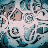 Fondo de las ruedas dentadas del reloj Foto de archivo libre de regalías