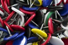 Fondo de las tachuelas de pulgar Fotografía de archivo libre de regalías