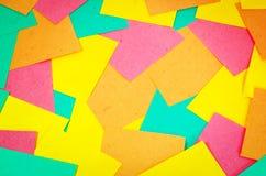 Fondo de las tarjetas coloreadas Foto de archivo libre de regalías