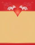Fondo de las tarjetas del día de San Valentín Foto de archivo libre de regalías