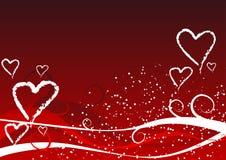 Fondo de las tarjetas del día de San Valentín Imagen de archivo