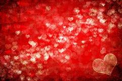 Fondo de las tarjetas del día de San Valentín Fotografía de archivo libre de regalías