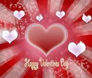 Fondo de las tarjetas del día de San Valentín Fotografía de archivo