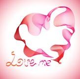 Fondo de las tarjetas del día de San Valentín con el corazón Imagenes de archivo