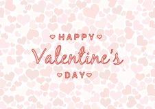 Fondo de las tarjetas del día de San Valentín con el corazón y el texto Imagenes de archivo