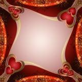 Fondo de las tarjetas del día de San Valentín con los corazones Foto de archivo libre de regalías