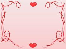 Fondo de las tarjetas del día de San Valentín. Decoración rosada ilustración del vector